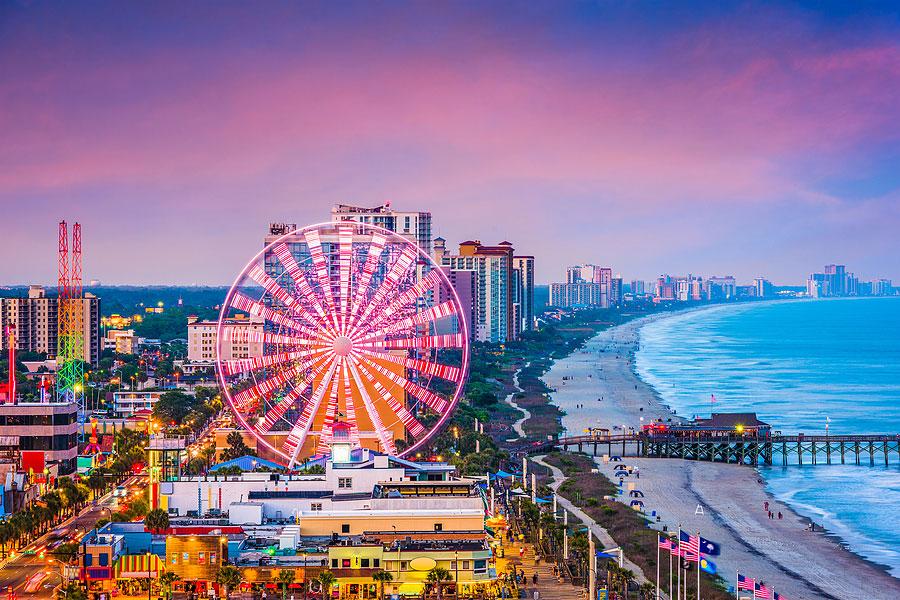 Myrtle Beach, South Carolina city skyline